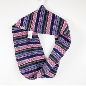 Bogner fire ice infinity wool scarf pink blue